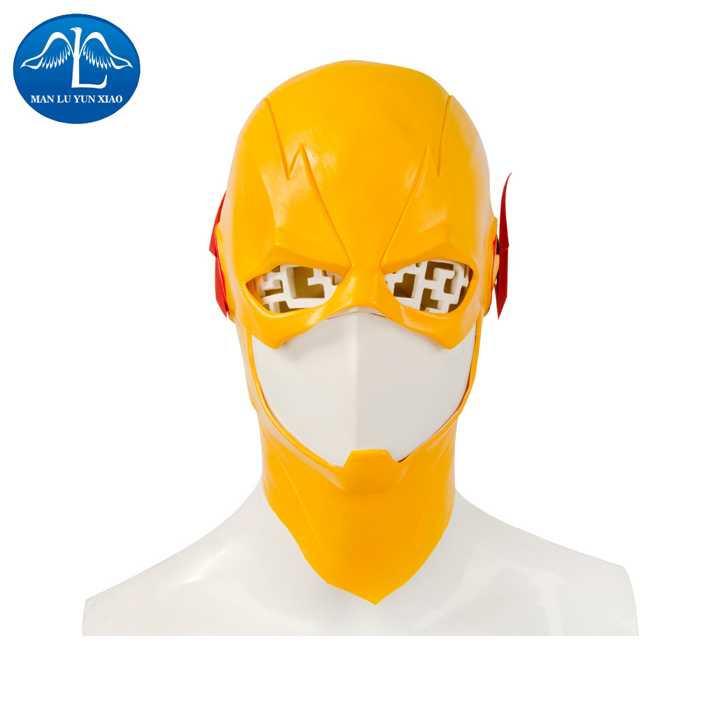 MANLUYUNXIAO The Flash Mask Halloween Cosplay Prop Latex Mask Full Face Mask Adult Man Cosplay For Halloween