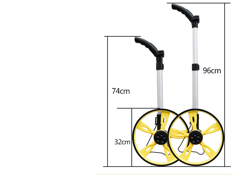 Hand driven range wheel Distance measuring wheel Electronic foot wheel rangefinder Roller digital display high precision promax driven wheel block for gy6 150cc scooters atvs go karts moped quads 4 wheeler dune buggys