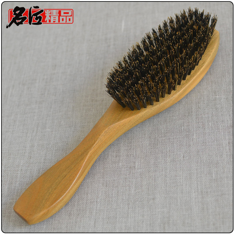 100% Authentic boar bristles hair comb high quality genuine natural Green sandalwood hairbrush comb massage feixiang 3pcshigh quality natural green sandalwood wild boar mane comb hair brush green sandalwood comb sp massage head brush d5