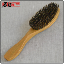 100% Authentic boar bristles hair comb high quality genuine natural Green sandalwood hairbrush comb massage