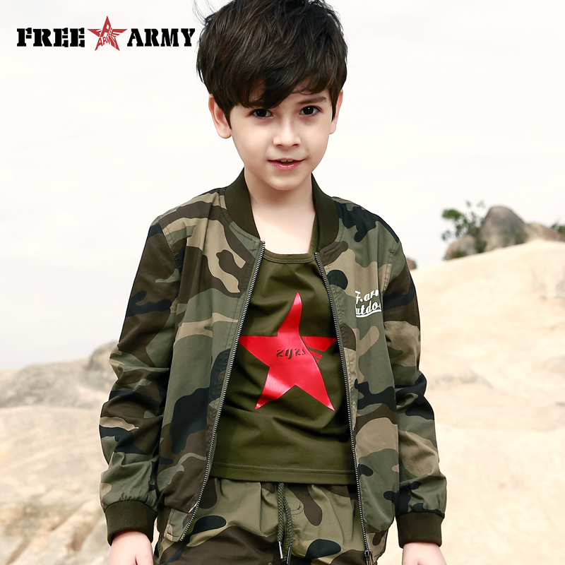 Military Camo Jacket Kids Spring Autumn Jackets For Boy Coat Bomber Jacket Camouflage Boy's Flight Jacket Children Outerwear
