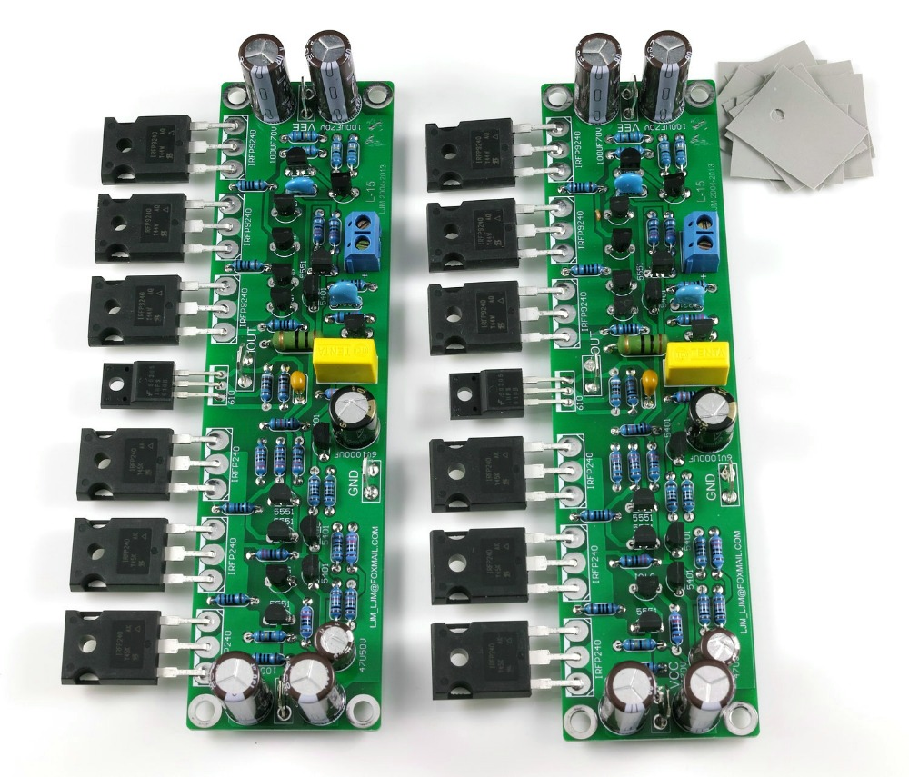 L15 300W+300W 4ohm Class D IRFP240 IRFP9240 MOSFET Power amplifier completed title=