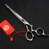 7inch Japan 440C Professional Hairdressing Scissors Hair Cutting Barber Shear Salon Equipment Pet Grooming Scissor