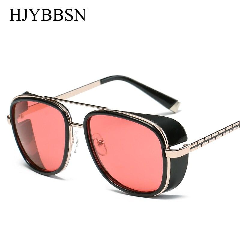 Tony stark homem De Ferro Marca Steampunk óculos de Sol Das Mulheres Dos Homens  Óculos de condução retro luneta soleil gafas de sol feminino masculino c21b321472