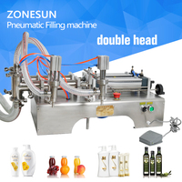 5 100ml Horizontal Pneumatic double head PERFUME Filling Machine, WlNE filling machine, Water filling machine