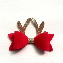 1PC Kids Girls Headbands Christmas Gifts Hair Accessories Baby High Elastic Cute Hairpins Bands bow Head