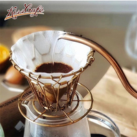 Foldable Espesso Coffee Filter Alloy Steel Portable Reusable Coffee Dripper Barista For Kitchen Decoration Accessories