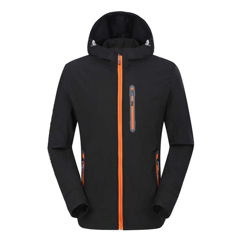Men Outdoor Quick-dry Windproof Hiking Jacket Jersey Coat Top Windbreaker Spring Autumn Summer Running Jogging Camping Cycling
