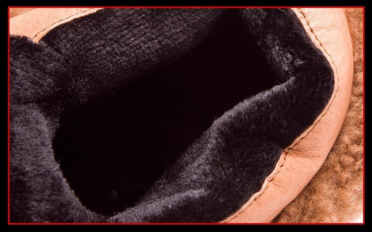 Rouge En Chaussures Hiver Botines Cuculus 100 Bottes vin Cuir Réel Noir marron Plat Neige Cheville Martin Femmes Véritable Mujer Rétro 1600 qBRw8