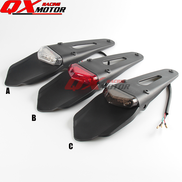 Universal Rear Fender with brake and running light Plate For KTM KLX YZF RMZ CRF Motocross off Road Motorcycle Free shipping starpad for xinyuan off road motorcycle accessories x2 x2x off road vehicles after the fender white