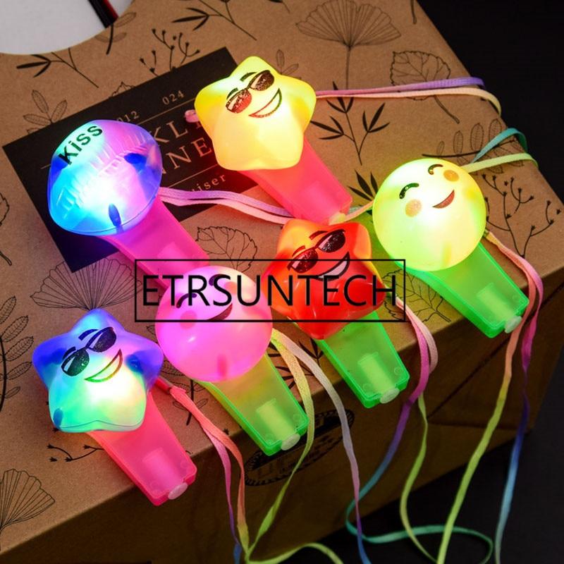 Intellektuell 120 Stücke Multi Farbe Blinkende Partei Bunte Kind Spielzeug Luminous Glow Whistle Led Bar Aktivität Geburtstag Geschenk Spielzeug