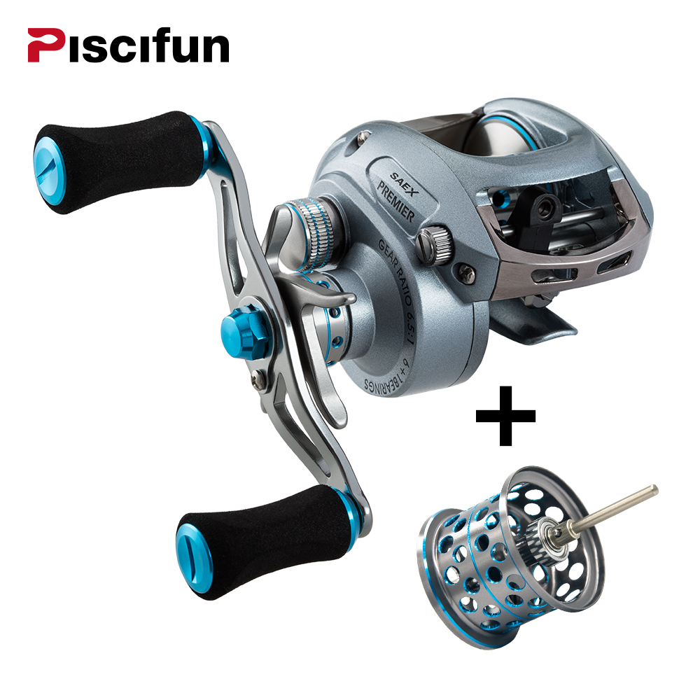 Фотография Piscifun Premier Fishing Reel 7BB 7.3: 1 Gear Ratio 179g Aluminum Right or Left Hand High speed Baitcasting Fishing reel