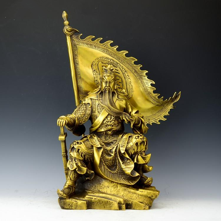 TNUKK  Art collection Chinese home Decorated Brass Carved Guangong Sculpture /Metal Crafts metal handicraft Home decorations..TNUKK  Art collection Chinese home Decorated Brass Carved Guangong Sculpture /Metal Crafts metal handicraft Home decorations..