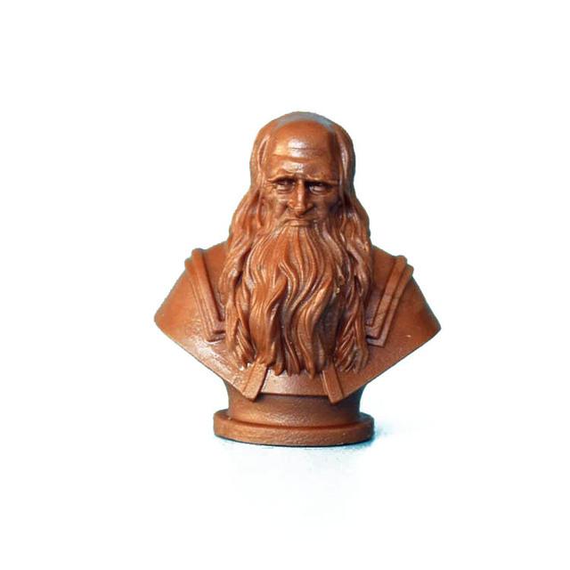 PVC figura juego modelo busto Leonardo da Vinci