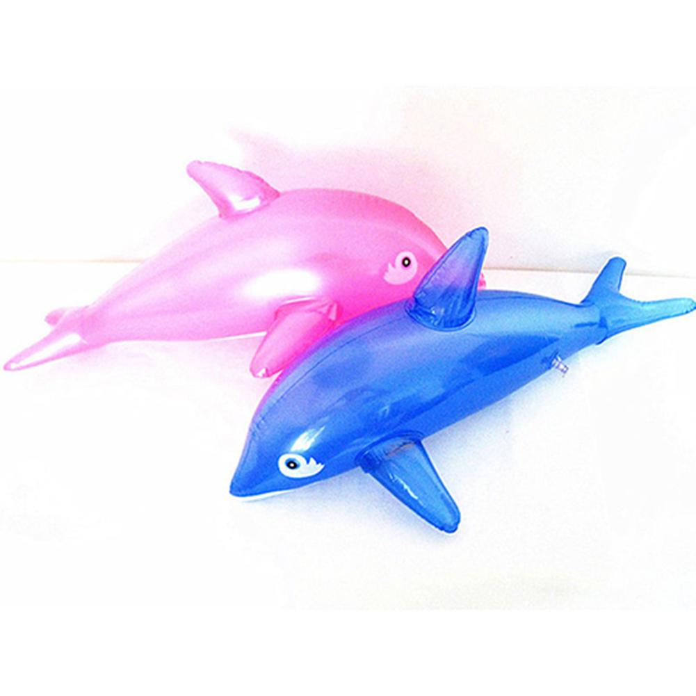 Lovely 50cm Inflatable Dolphin Fish Beach Swimming Pool Party Children Toy Bath Time For Girls Boys