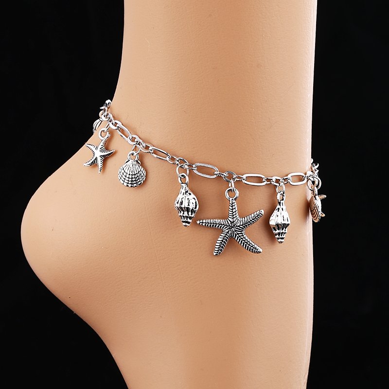 WNGMNGL 2019 Best New Season Hot Sale Shell Star Chain Simple Retro Anklets Adjustable For Women Gift Couple Small Fresh