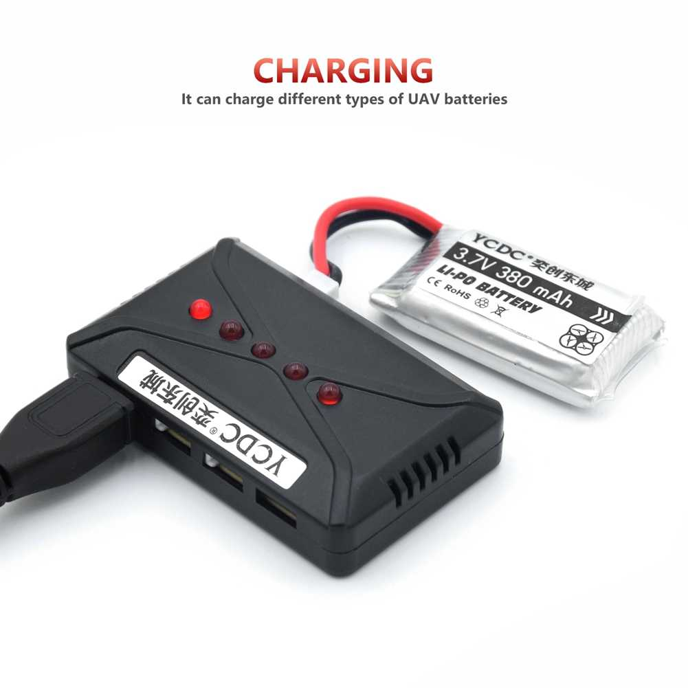5 pièces batterie/lot + 5 en 1 chargeur 3.7V 1200mah 25C 1S VOLT 25C Lipo batterie Akku + X5 chargeur pour Syma X5SW RC quadrirotor Drone