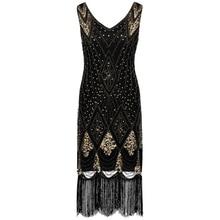 a091a51ac99 TOPMELON Women 1920s Gatsby Charleston Inspired Sequin Flapper Dress  Sleeveless