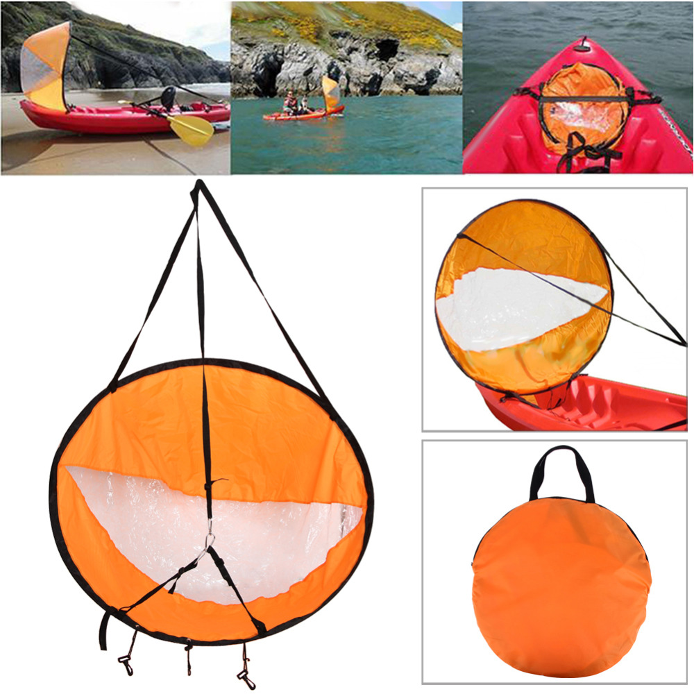 цена на 108cm Foldable kayak Sail Paddle Durable Kayak Boat Downwind Wind Rowing Boats Canoe With Clear Wind Boat Marine Accessories