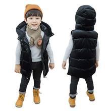 BOTEZAI/детский зимний жилет; жилет с капюшоном для мальчиков; пальто для девочек; детский жилет без рукавов; детская зимняя ветровка; куртка