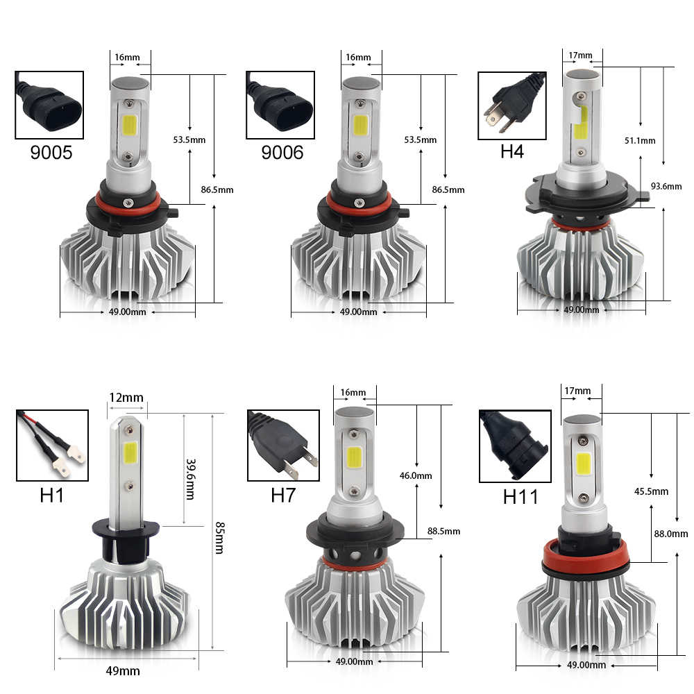 BraveWay Led Light for Auto Led H4 H7 H11 9005 9006 H1 Headlamp Ice Bulb Led Headlight Car Automobile Diode Lamps H1 LED Bulbs