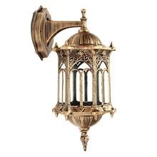 Lámpara de pared E27, decoración de jardín, puerta del hogar, pasillo, Villa, candelabro, iluminación Exterior/interior/Exterior, lámpara de linterna Vintage