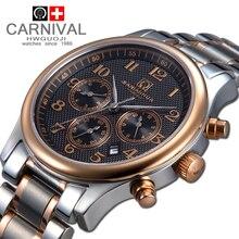 Carnaval de acero llena de oro mecánico militar impermeable digital tiempo masculino relogio del reloj de moda casual para hombre de lujo relojes de marca