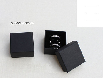 5*5*3cm Black Ring Gift Boxes Jewelry Earring Packaging Box With Sponge 100pcs/lot Free shipping