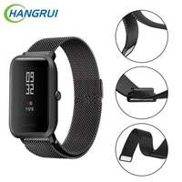 Stainless Steel Strap For Xiaomi Huami Bip BIT TEMPO Little Youth Smart Watch Wristbands Accessories Replacement