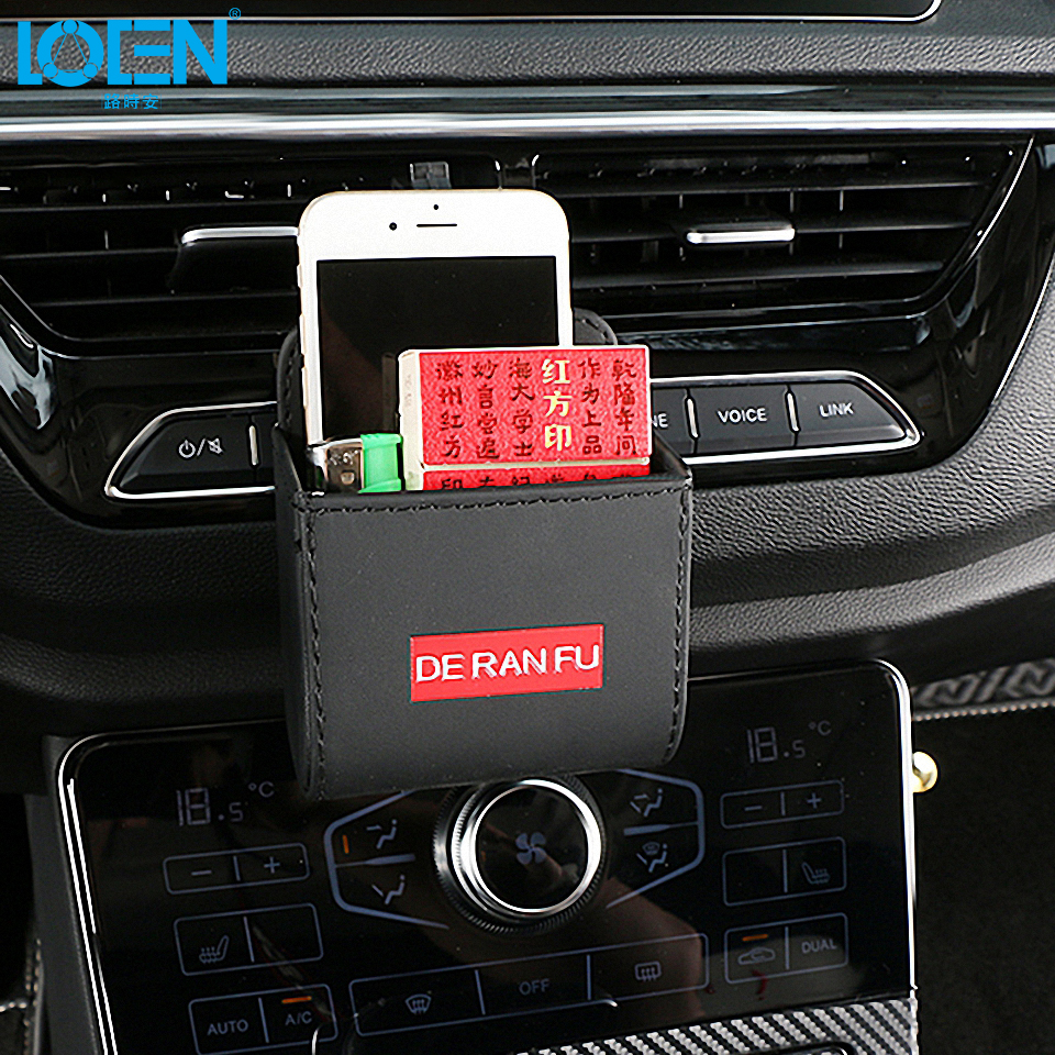 Red and Black Audew Storage Bag Large Capacity for Car