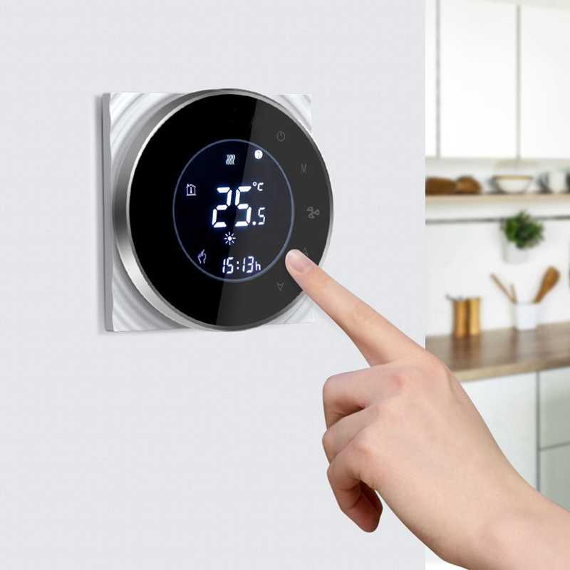 Acondicionador de aire Central con doble regulación con termostato inalámbrico Wifi Lcd Aplicación de vida inteligente