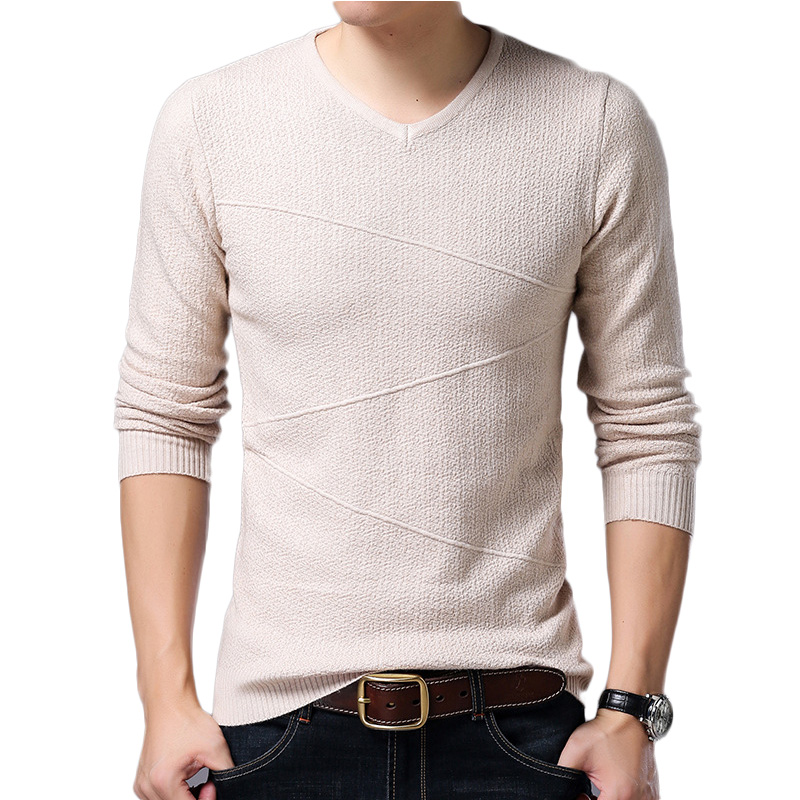 Sweater Men Winter Soft Warm V-Neck Slim Fit Long Sleeve Pullovers Mens Sweaters Men Knitwear V-Neck Mens Sweaters For Men M-3XL