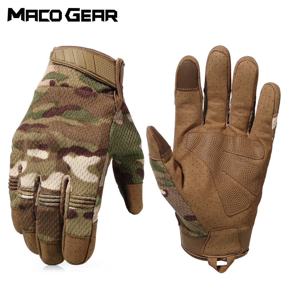 Multicam Camo Tactical Gloves Army Military Combat Airsoft Bicycle Outdoor Cycling Shooting Paintball Hunting Full Finger Glove