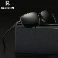 BAVIRON 2017 New Square Sunglasses Men Polarized Sun Glasses Male UV400 Driving Glasses Metal Frame Cool