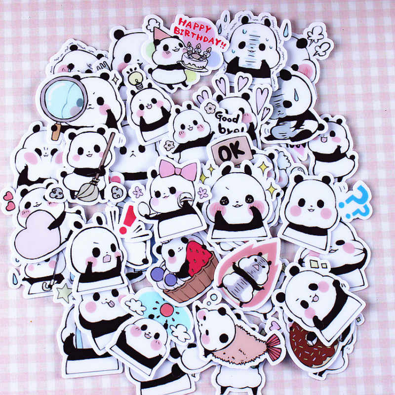 1pcs Small Panda Stickers Classic Graffiti For Suitcase Cool Laptop Skateboard Cartoon Toy Styling Phone Luggage Funny Decals