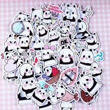 1 uds, pegatinas de Panda pequeño, grafiti clásico para maleta, genial, portátil, monopatín, juguete de dibujos animados, diseño de teléfono, calcomanías divertidas para equipaje