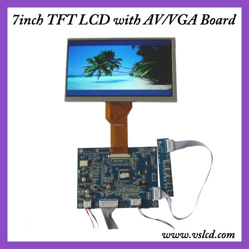 VGA+AV+OSD tft driver board +7inch  tft lcd module with 800x480 resolution AT070TN92 for car DVR vga 2av revering driver board 8inch 800 600 lcd panel ej080na 05b at080tn52