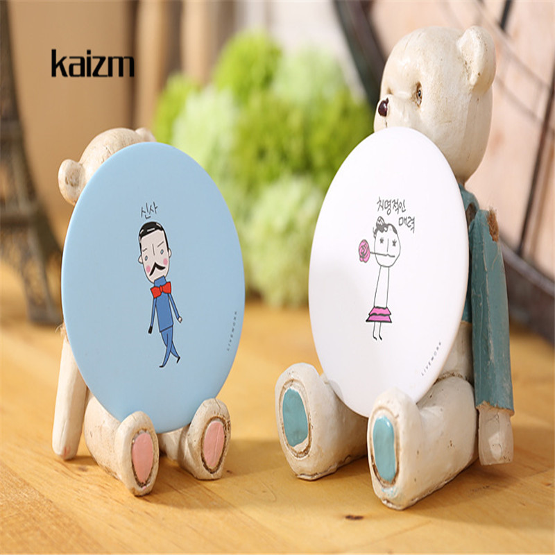Kaizm Makeup Mirros 1Pcs Round Cartoon Pattern Mirror For Girl Portable Compact Mini Poc ...