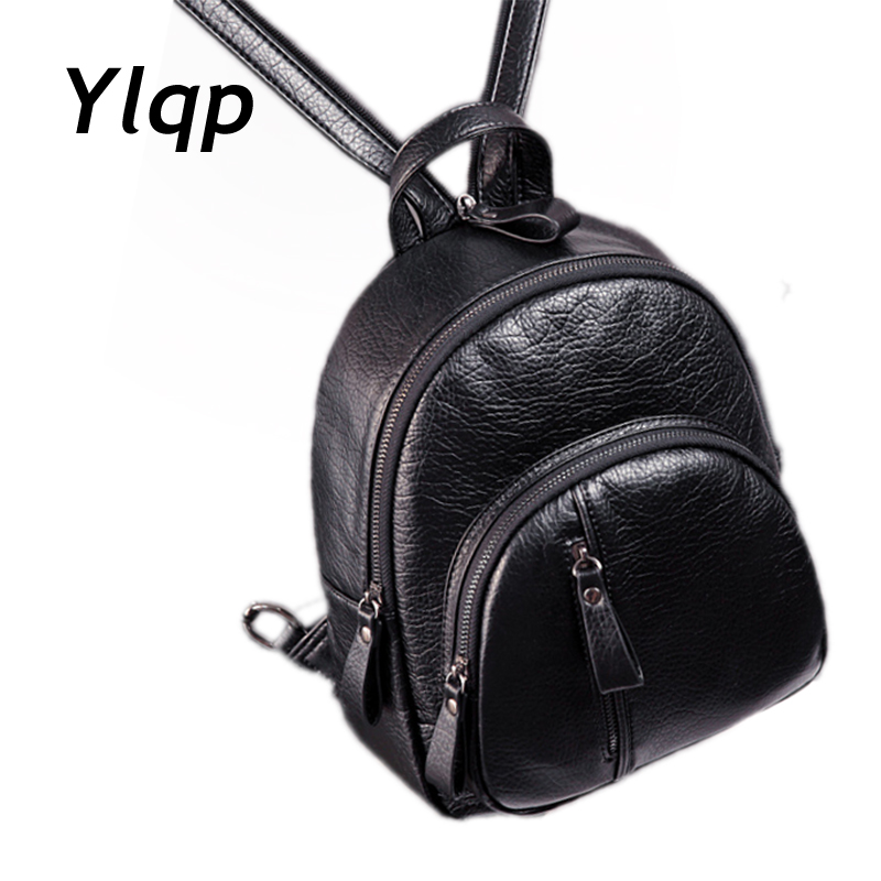 2017 New Fashion Contracted Women Mini Backpack Small Shoulder Bag Women Leather Backpack mochila