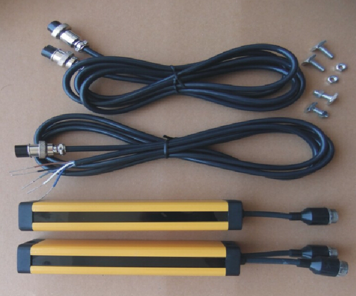 10 points spacing 20MM relay out put  light curtain safety grating hydraulic protection punch sensor 4 beams 40mm relay out put manufacturers safety light curtain safety grating optical protection punch sensor