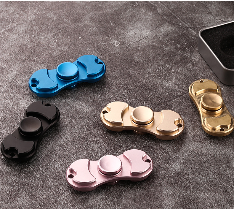 5 Colors EDC Tri-Spinner Fidget Spinner Toy Hand Spinner for Autism and ADHD Rotation Time Long Anti Stress Finger Spinner Toys