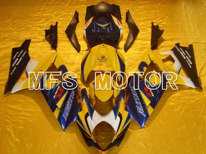 Пресс-формы для Suzuki GSXR 1000 К7 2007 2008 АБС впрыска Обтекателя комплекты GSXR1000 К7 07 08 - Корона - желтый/синий