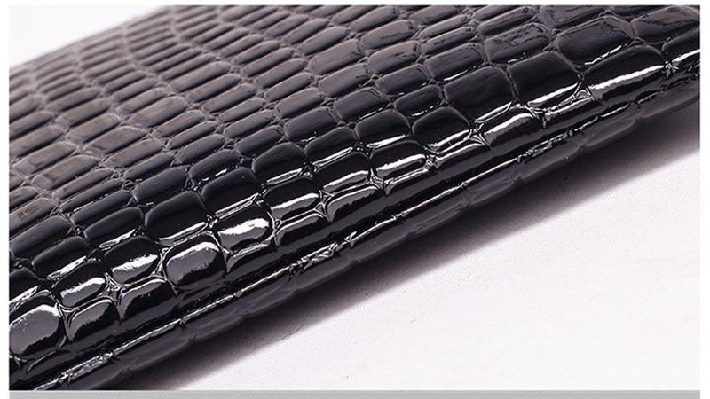 New Mini Day Clutches Women's Bag Korean Version Crocodile Pattern Clutch Bag Ladies Mobile Phone Bags Wallet PU Leather Handbag (14)