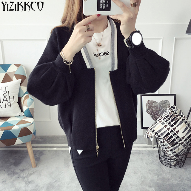 YiZiKKCO Brand Women Cardigan Sweater 2017 Fashion Spring Autumn ...