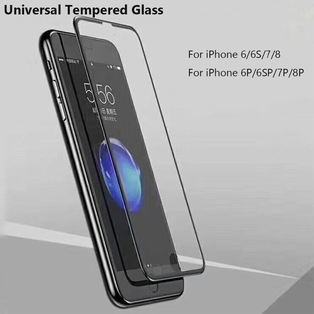 New Universal Tempered Glass 5.5inch For iPhone 7 8 6 Plus Screen Protector 4.7inch For iPhone 6 6s 7 8 Film Protection Glass