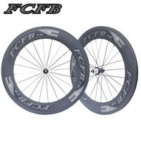 new FCFB Carbon Road Wheelset 700C Powerway R36 Carbon Wheels 88mm Clincher V shape clin steel bearing Carbon Road Bike Wheelset