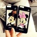 Espejo de Mickey Minnie de la historieta lPhone 5/5S lphone6 cáscara del teléfono móvil cáscara del teléfono 6 plus cubierta protectora shell