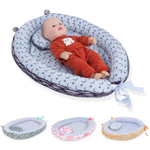 Baby Bed In Bed Infant Crib Portable Cribs Baby Protector Cradle Stars Moon Printed Co Sleeper Newborn Mattress Baby Carrycot
