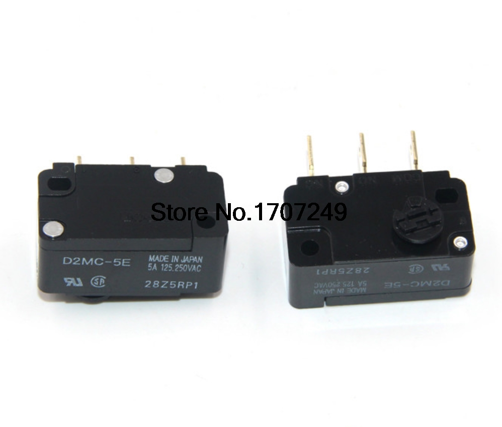 Free shipping 10pcs/lot New original OMRON Travel switch limit switch micro switch Coin switch D2MC-5E Clockwise