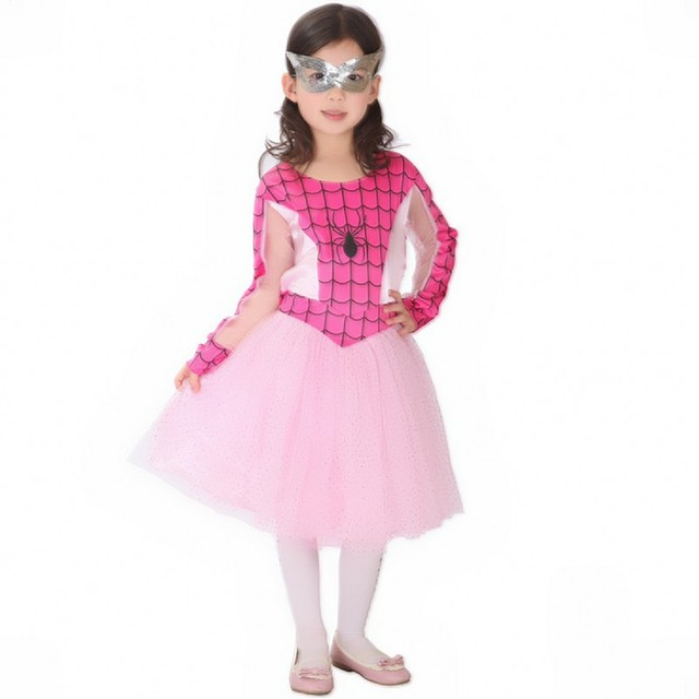 f11a38ac5cad The Amazing Spider Man Spider Girl Classic Costume Size 4 8 PINK NWT ...